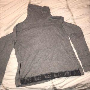 Grey Nike Turtleneck Sweatshirt